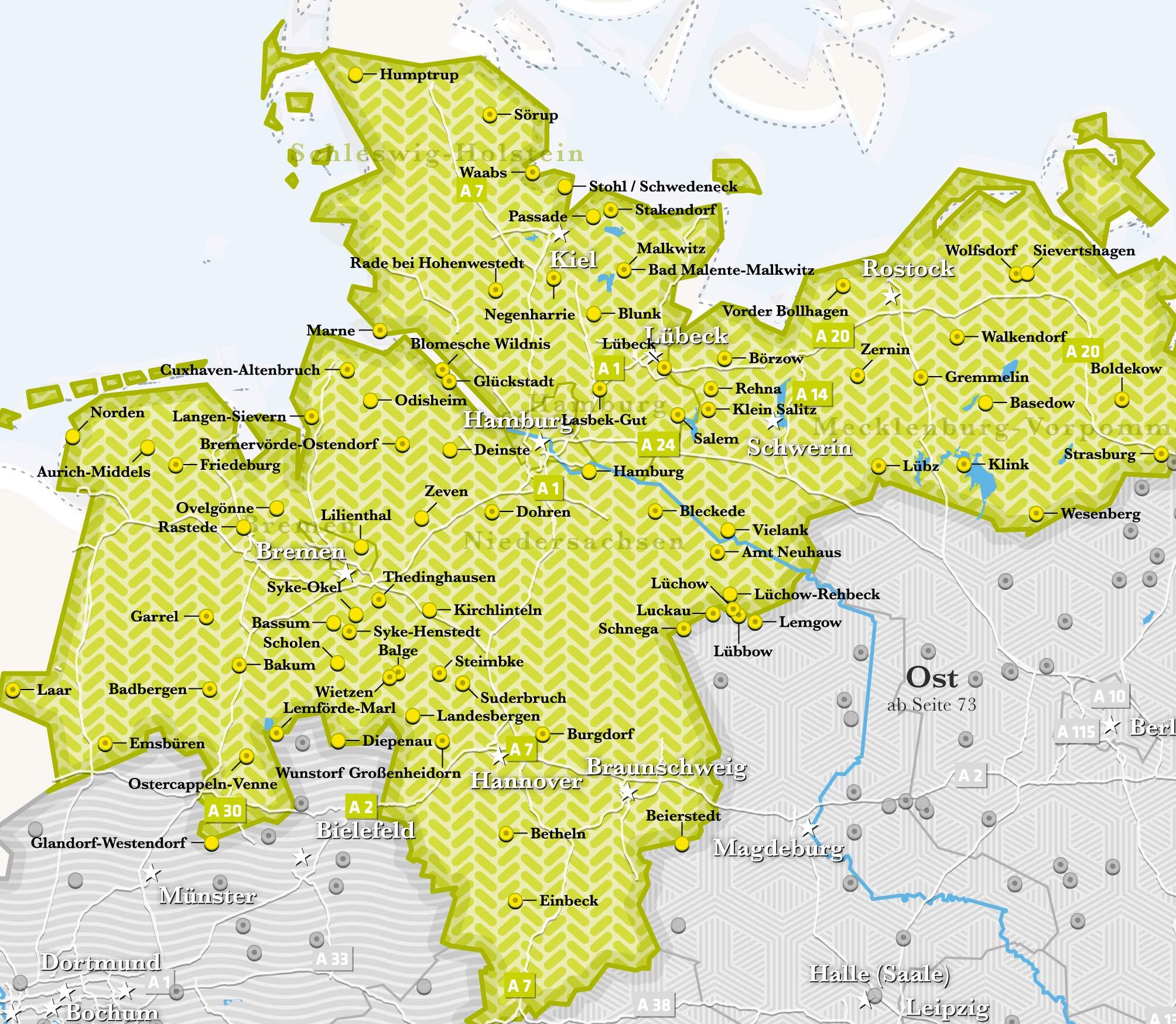 landvergnügen karte Reisen   Camper Wohnmobil mieten Urlaub | Kleine Freiheit Camper